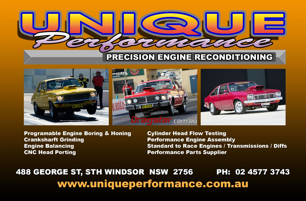Unique Performance Precision Engine Reconditioning: 488 George St, South Windsor, NSW, Australia. Programmable Engine Boring and Honing, Crankshaft Grinding, Engine Balancing, CNC Head Porting, Cylinder Head Flow Testing, Performance Engine Assembly, Standard to Race Engines, Transmissions, Diffs,  Performance Parts Supplier.
